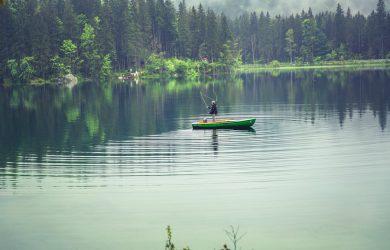 Fridfull sjö med ädelfisk